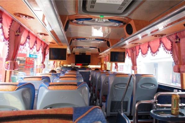 バスで太魯閣国立公園に向かう