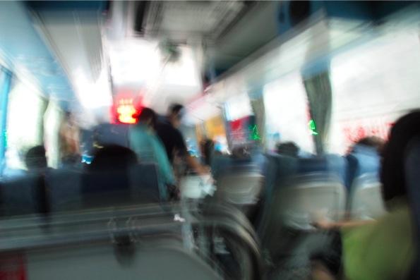 太魯閣国立公園の運転の荒いバス