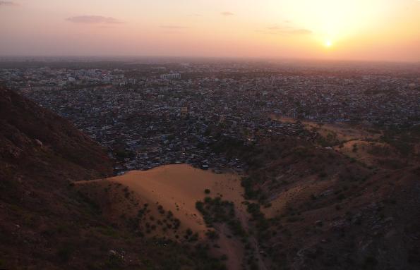 ナルガール要塞の夕日
