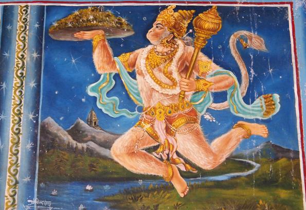 ヒンドゥー教寺院のハヌマーン