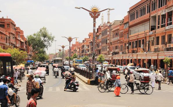 ジャイプールの街