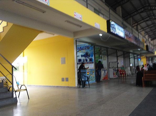 プエルトキハロのバスターミナル