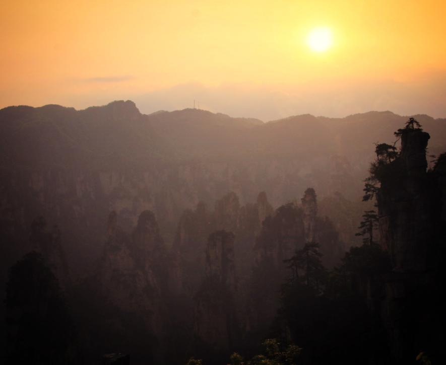 武陵源の夕日