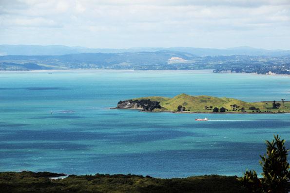 ランギトト島から見える綺麗な海