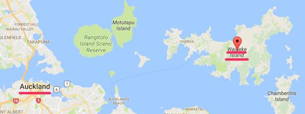 ワイヘキ島の地図