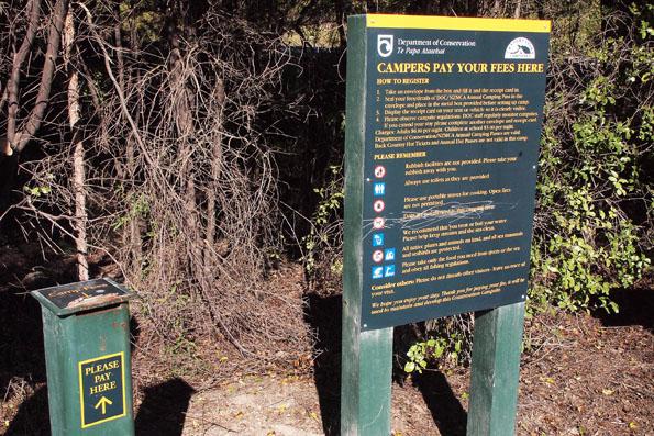 ニュージーランド環境保全省のキャンプサイトの支払い方法