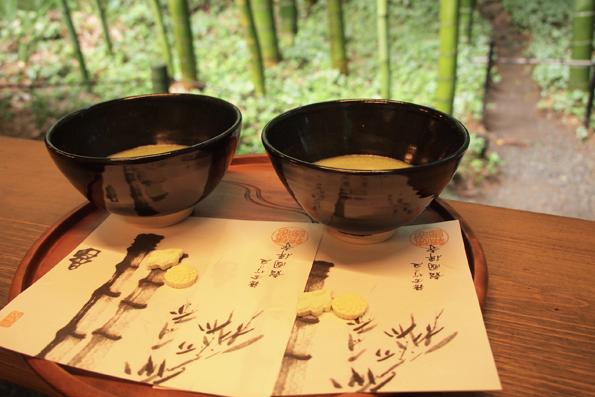 報国寺の抹茶
