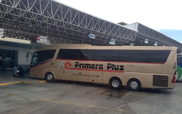 メキシコの長距離バス・プリメーラプラス