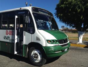 メキシコグアナファトのローカルバス