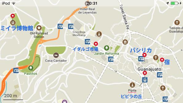 グアナファトの地図・マップ