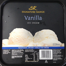 ニュージーランドのバニラアイスクリーム