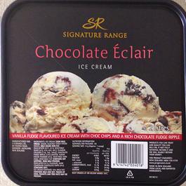 ニュージーランドのチョコレートエクレア味のアイスクリーム