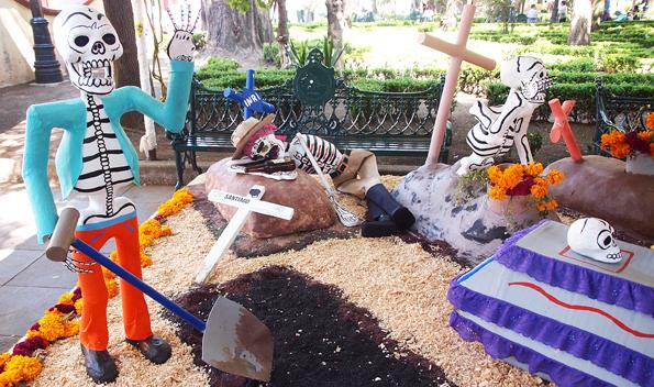 メキシコ・死者の日(死者の祭り)のかわいいガイコツ