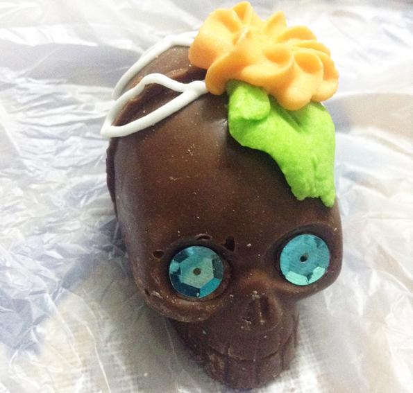 メキシコシティ・死者の日の食べ物・ガイコツチョコレート