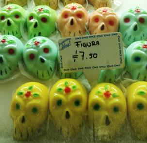 メキシコ・死者の祭り・カラフルなドクロゼリー