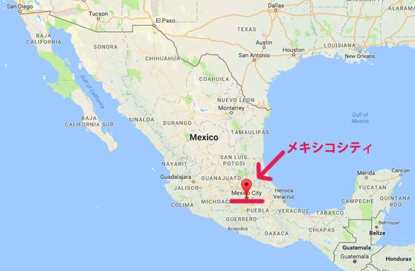 メキシコシティの場所・地図