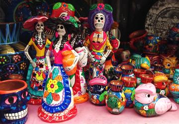メキシコシティのお土産・ガイコツ(ドクロ)の小物