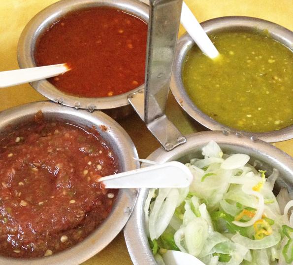 メキシコの辛いソース類