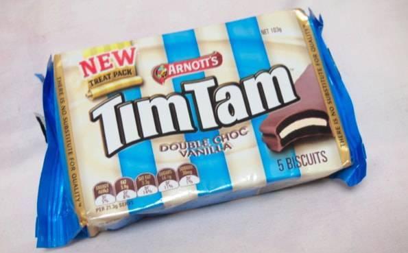 TimTam double choc vanilla(ティムタムダブルチョコバニラ)