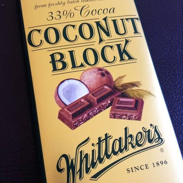 Whittaker's (ウィッタカーズ)ココナッツブロック(33% Cocoa Coconut Block)