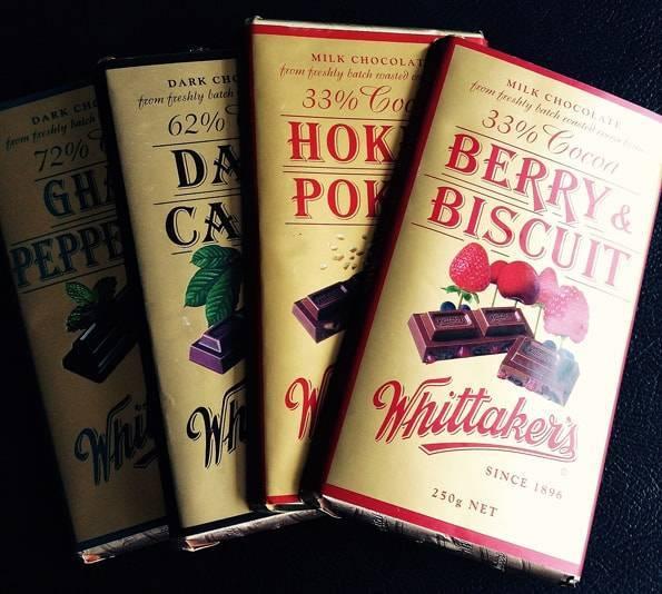 ニュージーランドの美味しいチョコレートWhittaker's (ウィッタカーズ)