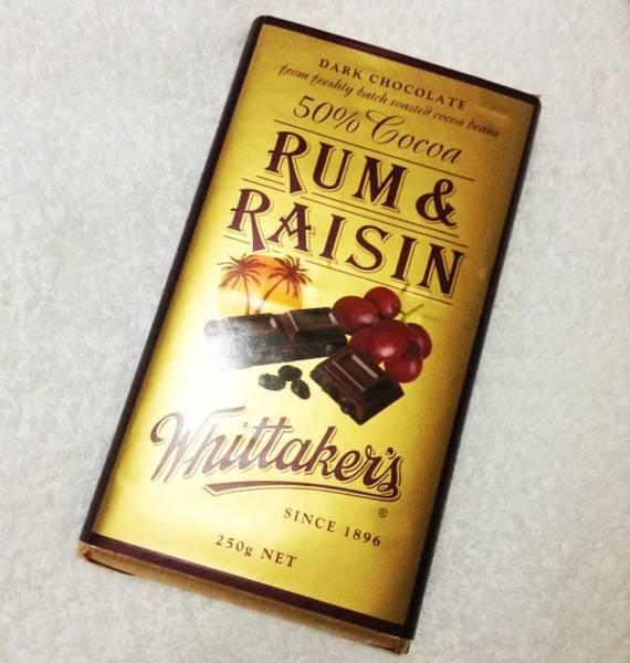 Whittaker's (ウィッタカーズ)ラム&レーズン(50% Cocoa Rum & Raisin)