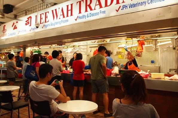 TTDI ウエットマーケット(Taman Tun Dr. Ismail Wet Market)の豚肉売り場「Lee Wah Trading」