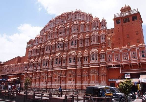 インドインド・ジャイプールの「風の宮殿(Hawa Mahal)」