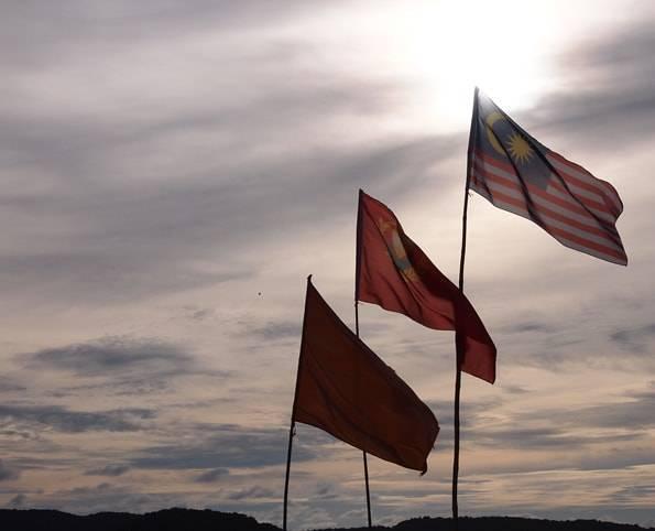 ランカウイのマレーシアの国旗