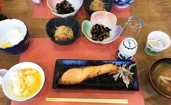 奥日光の旅館の朝食
