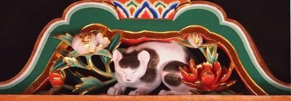 日光東照宮の眠り猫