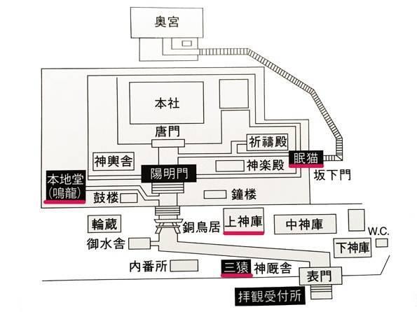 日光東照宮の地図・マップ
