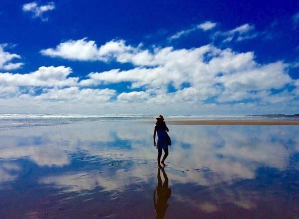 まるでウユニ塩湖のような写真が撮れたピハビーチ