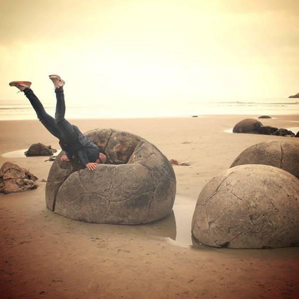 モエラキ ボルダーズ (Moeraki Boulders)