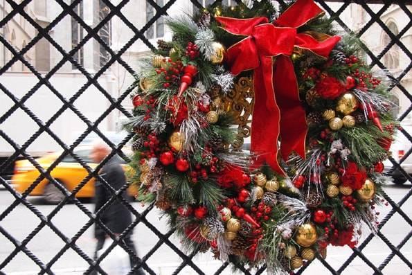 ゴシップガールのロケ地・ロッテ ニューヨーク パレス ホテル(Lotte New York Palace Hotel)のクリスマスリース