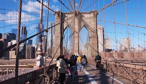 ニューヨーク・ブルックリンブリッジ