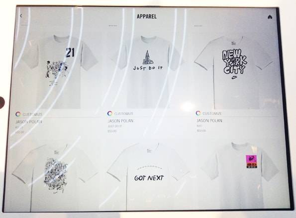 ナイキソーホーでカスタマイズできるTシャツ