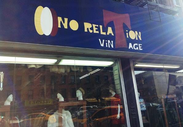 NO RELATION VINTAGE (L Train Vintage)