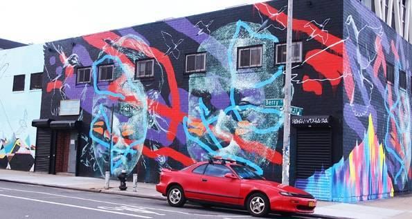 Brooklyn(ブルックリン)-Williamsburg(ウィリアムズバーグ)のグラフィティアート