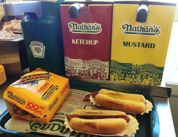 ネイサンズのホットドッグ(Nathan's Famous Hot Dogs)