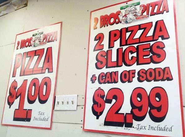 ニューヨークのピザ