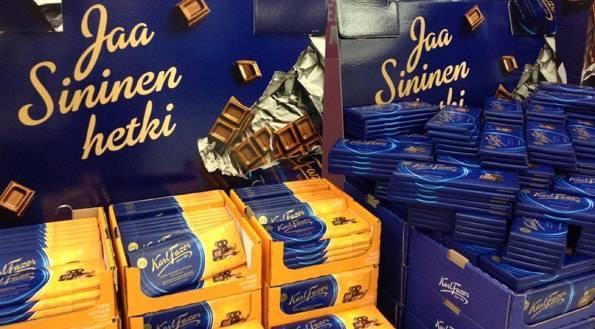 Karl Fazer(ファッツェル)のミルクチョコレートとハニーローステッドアーモンド