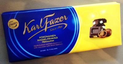 ファッツェル(Fazer)・ヘーゼルナッツミルクチョコレート