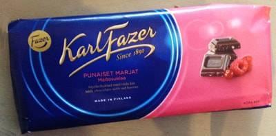 ファッツェル(Fazer)・ミルクチョコレートwithレッドベリーズ