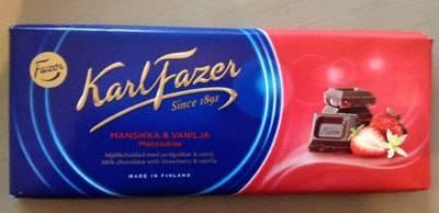 ファッツェル(Fazer)・ストロベリー&バニラ ミルクチョコレート