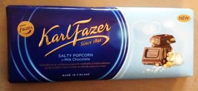 ファッツェル(Fazer)・ソルティーポップコーン ミルクチョコレート