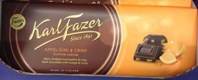 ファッツェル(Fazer)・オレンジ&クリスプ ダークチョコレート