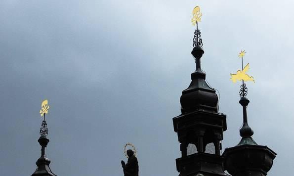 セドレツ納骨堂の屋根