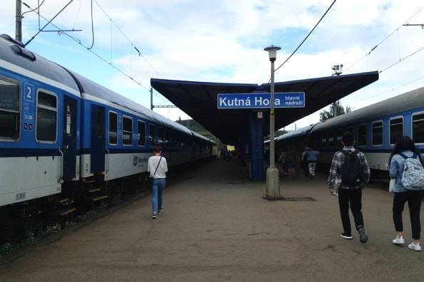 クトナーホラの駅のホーム