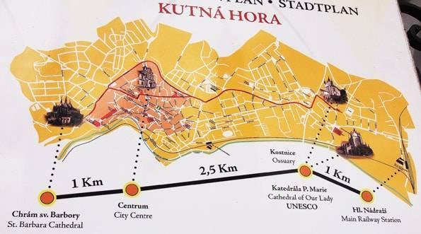 クトナーホラの地図
